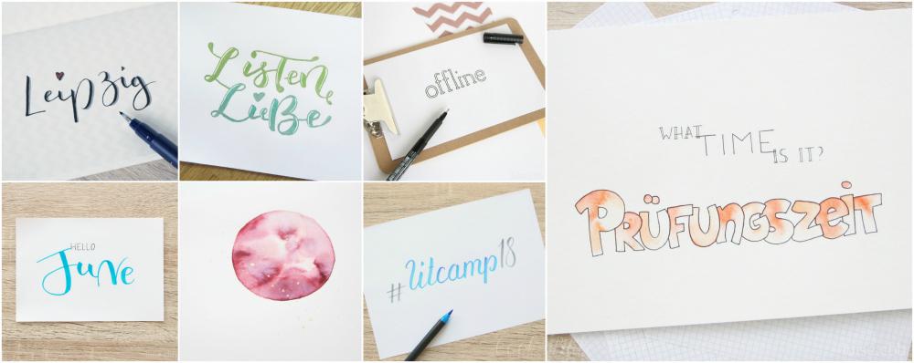 Kreatives, Lettering Mai und Juni