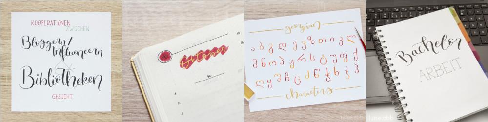 Kreatives, Lettering September und Oktober