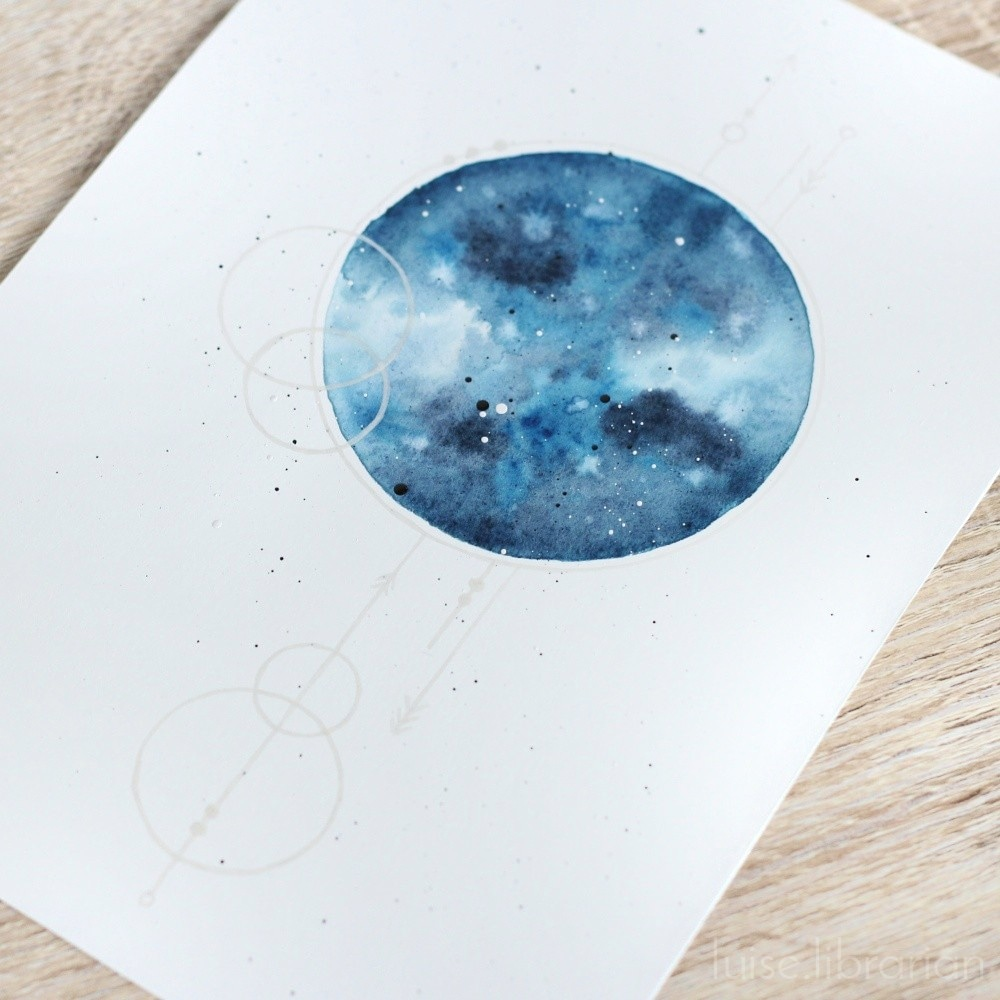 Aquarellmond + Geometrie