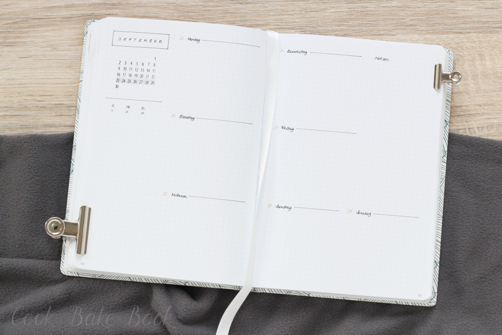 Bullet Journal Wochenübersicht Weekly Log minimalistisch