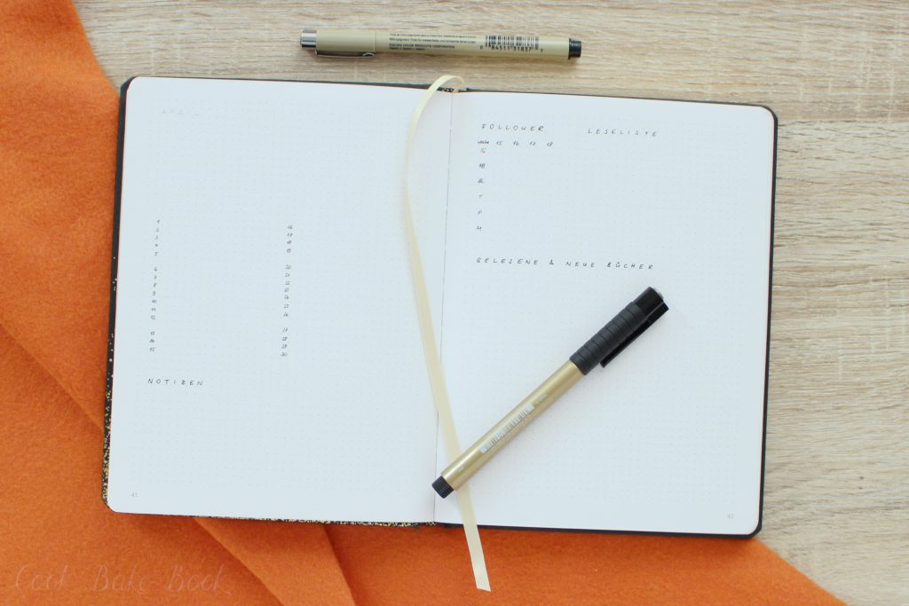 Bullet Journal Übersicht Blog und Hobby